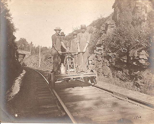 Historic Photo - Charnock Cut on old Mass Central Railroad