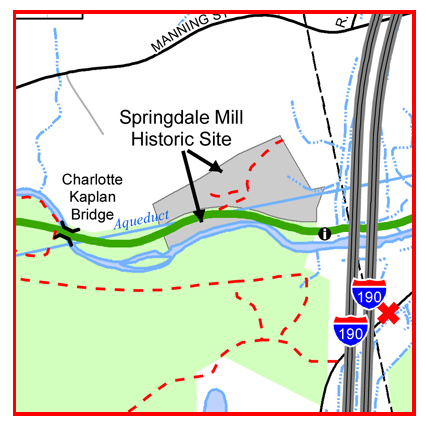 Inset - Springdale Mill location on MCRT