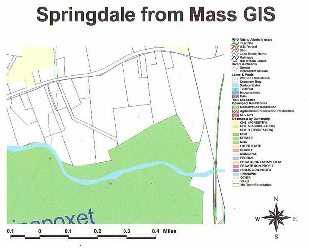 Springdale on GIS map