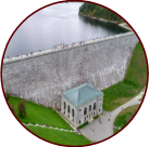 image of clinton dam and wachusett reservoir - from above