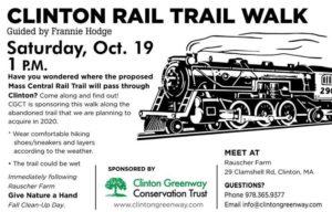 poster for clinton rail trail walk