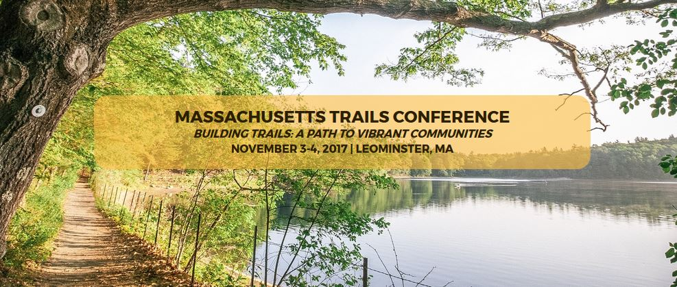image of front page of DCR mass trails website, announcing the trails conference