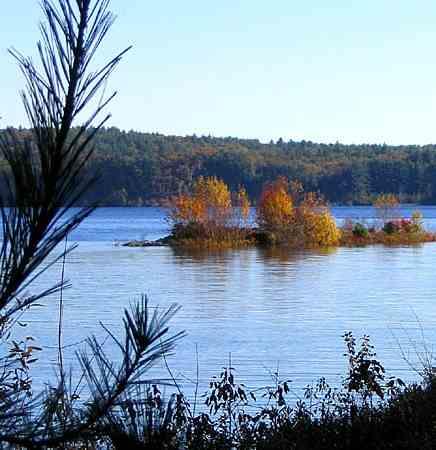 view from sholan point overlooking wachusett reservoir