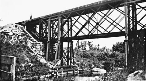 Historic Photo - Central Mass Rail Road bridge