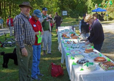 image of cake table with 20+ cakeseremony