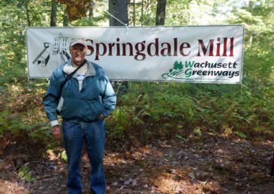 Springdale Mill Celebration sign
