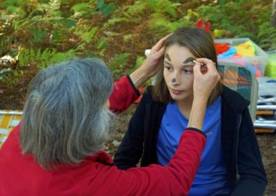 Face painting at Springdale Mill Celebration