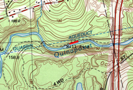 Springdale Mill Site Map - topographic