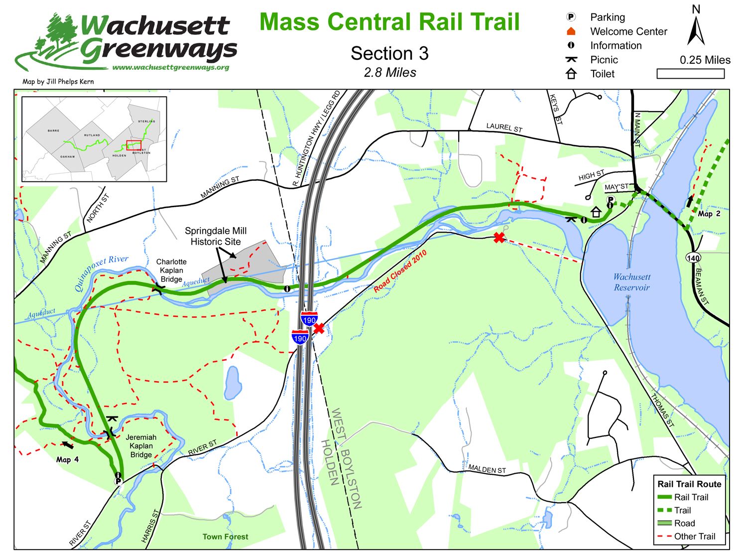 Mass Central Rail Trail - Section  3