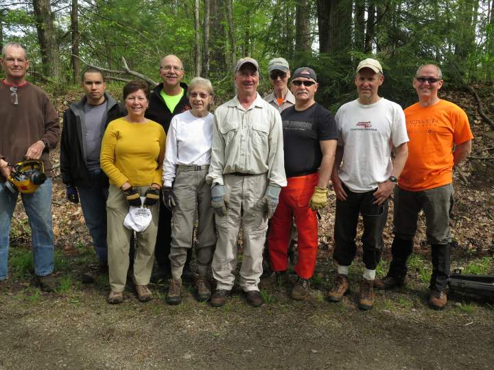 Some of our spring trailwork volunteers from last year