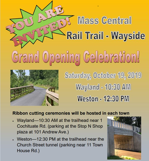 poster for MCRT Wayside Grand opening