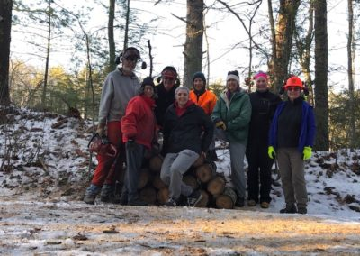 trailwork volunteers on Mass central rail trail on 2-22-2020